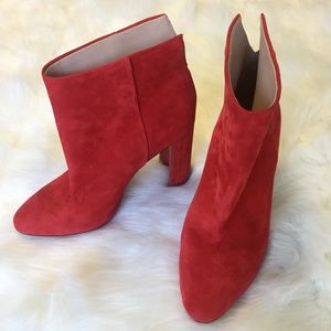 A-D & Daughters. Red ankle bootie. size 7.5